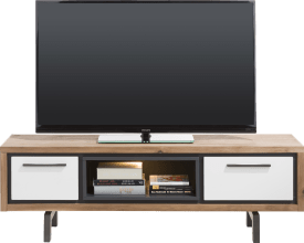 tv-dressoir 140 cm - 1-lade + 1-klep + 1-niche (+ led)