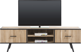 meuble tv 190 cm - 1-porte + 1-tiroir + 2-niches
