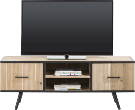 meuble tv 150 cm - 1-porte + 1-tiroir + 2-niches