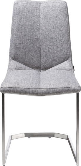 chaise pied inox traineau carre - lady gris ou mint
