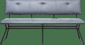 bank 160 cm - schwarz gestell - kombi kibo anthrazit mit biese tatra anthrazit