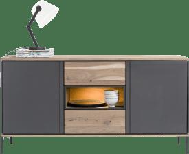 sideboard 190 cm - 2-tueren + 2-laden + 1-nische (+ led)