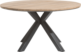 dining table round 150 cm solid oak + mdf