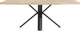 dining table 220 x 100 cm - wood - star leg