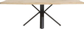 dining table 250 x 100 cm - wood - star leg