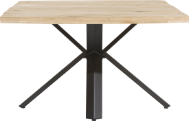 dining table 150 x 130 cm - wood - star leg