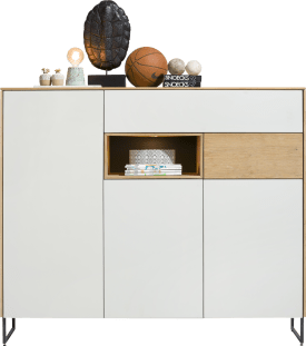 dressette 3-doors + 2-drawers + 1-niche - 160 cm (+ led)