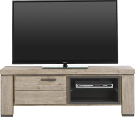 tv-dressoir 130 cm - 1-klep + 2-niches