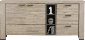 dressoir 190 cm - 2-deuren + 3-laden + 3-niches
