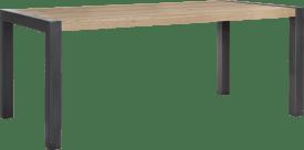 eetkamertafel 180 x 100 cm - metalen u-poot