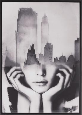 cityline toile imprimee 74x104cm