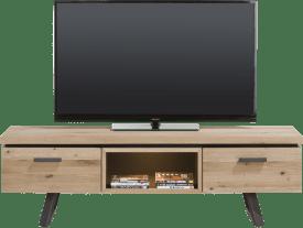 tv-dressoir 150 cm - 1-lade + 1-klep + 1-niche (+ led)
