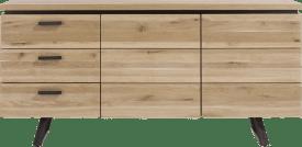 dressoir 180 cm - 2-deuren + 3-laden