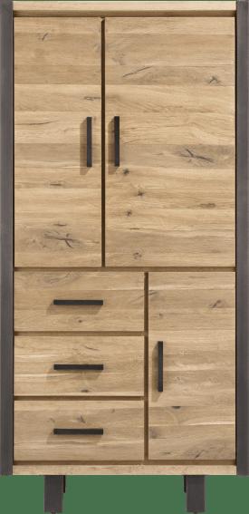 bergkast 100 cm - 3-deuren + 3-laden