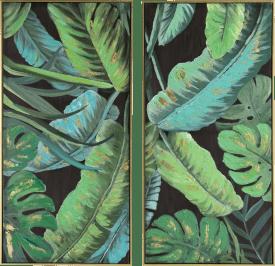 banana leafs 2-luik 50x100cm