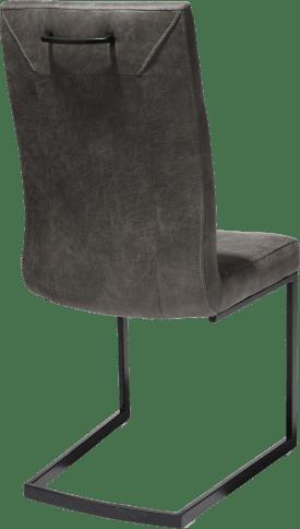 eetkamerstoel - zwart - swing recht + greep recht - stof secillia