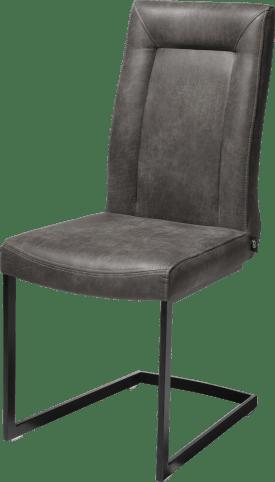 chaise - noir -pieds traineau rectangle +poignee rectangle-secillia