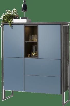 highboard 115 cm - 3-doors + 2-drawers + 2-niches (+ led)