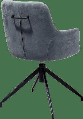 armstoel + greep - metaal conisch zwart + stof savannah