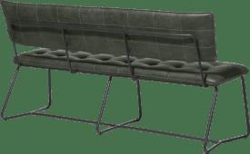 eetkamer-bankje 160cm. - zwart frame - corsica