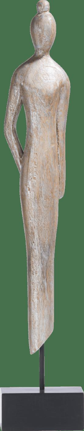 beeld wooden lady
