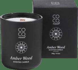 bougie parfume large amber wood