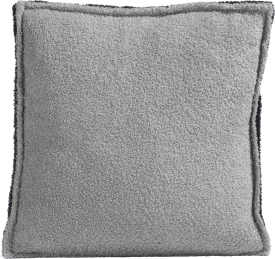 fluffy grey kissen 45x45cm