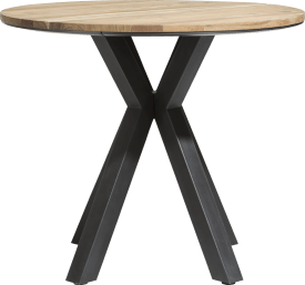 table de bar ronde 110 cm - chene massif + mdf