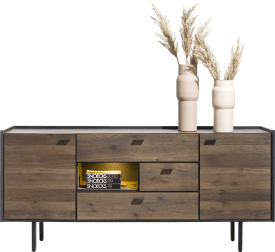 sideboard 180 cm. - 2-doors + 3-drawers + 1-niche (+ led)