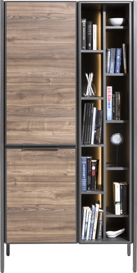 armoire 95 cm - 2-portes + 11-niches (+ led)