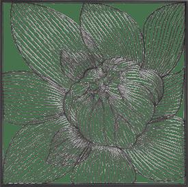 modern lily wanddeko 74x74cm
