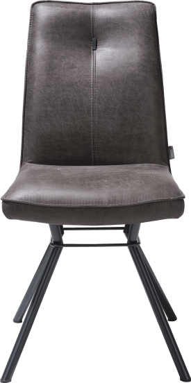 dining chair 4-legs - fabric secilia - round handgrip