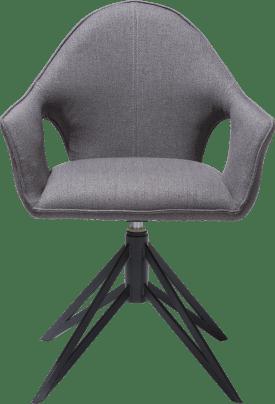 armchair + handgrip + gas spring - metal off black - fabric lavinia