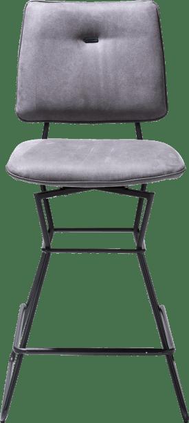 barchair - black frame - kibo anthracite + piping tatra anthracite