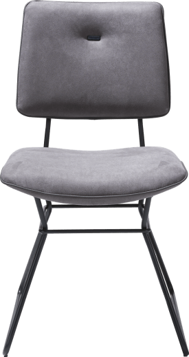 dining chair - black frame - kibo with piping tatra anthracite