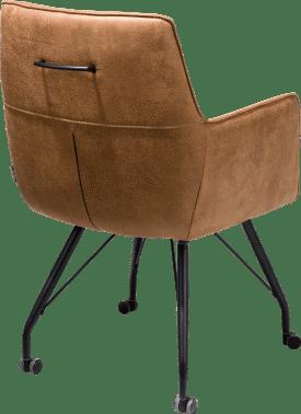 fauteuil avec roulettes - ressorts ensaches + poignee - tissu rocky