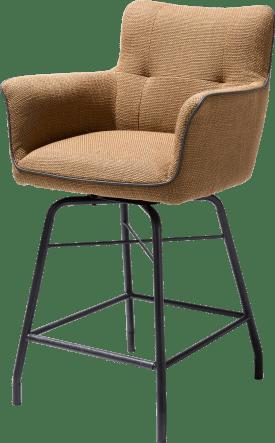 chaise de bar avec poignee en catania noir - tissu vito