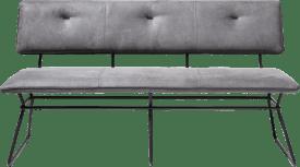 bench 160 cm - black frame - kibo anthracite + piping tatra anthrac.