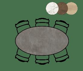 table ellips - 180 x 100 cm