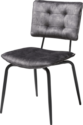 chaise - off black - tissu karese