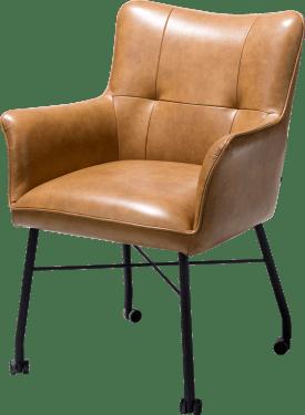 fauteuil avec roulettes + ressorts ensaches - avec poignee en catania noir - laredo