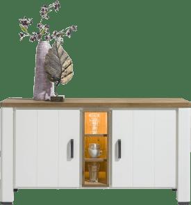 dressoir 140 cm - 2-deuren + 3-niches (+ led)