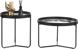 summer jungle set of 2 side tables h50-40cm