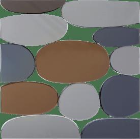 cobble stones spiegel 70x70cm