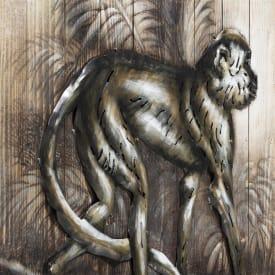 painting monkey 73 x 90 cm