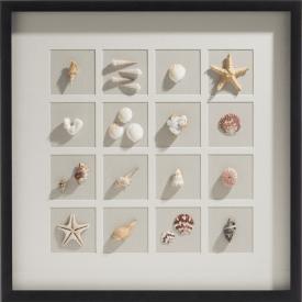 ocean treasures 3d wanddeko 73x73cm