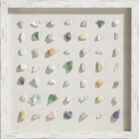 minerals wanddeko 50x50cm