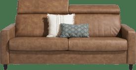 slaapbank 160 x 190 cm - hoge poten (standaard: hout)