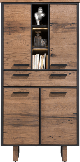 armoire 100 cm. - 4-portes + 1-tiroir + 3-niches (+ led)
