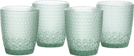 amalfi set of 4 glasses h10cm